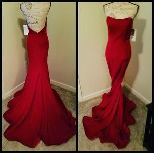 Red formal dress 6